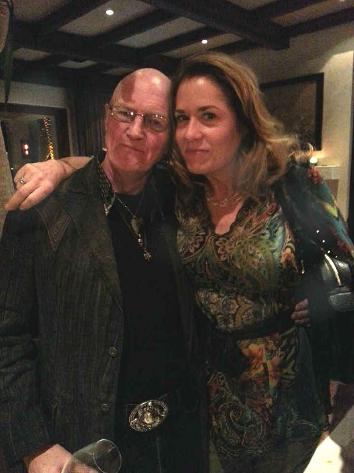Chris Slade with Vicki Peterson of The Bangles