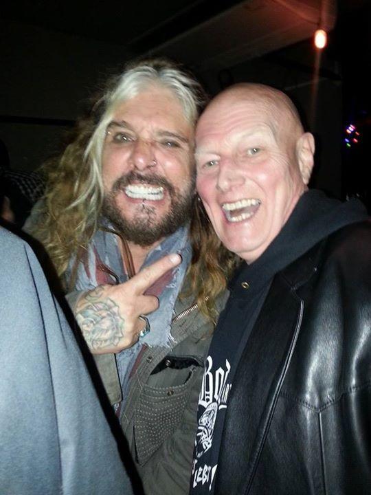 Sladey with Motley Crue's John Corabi