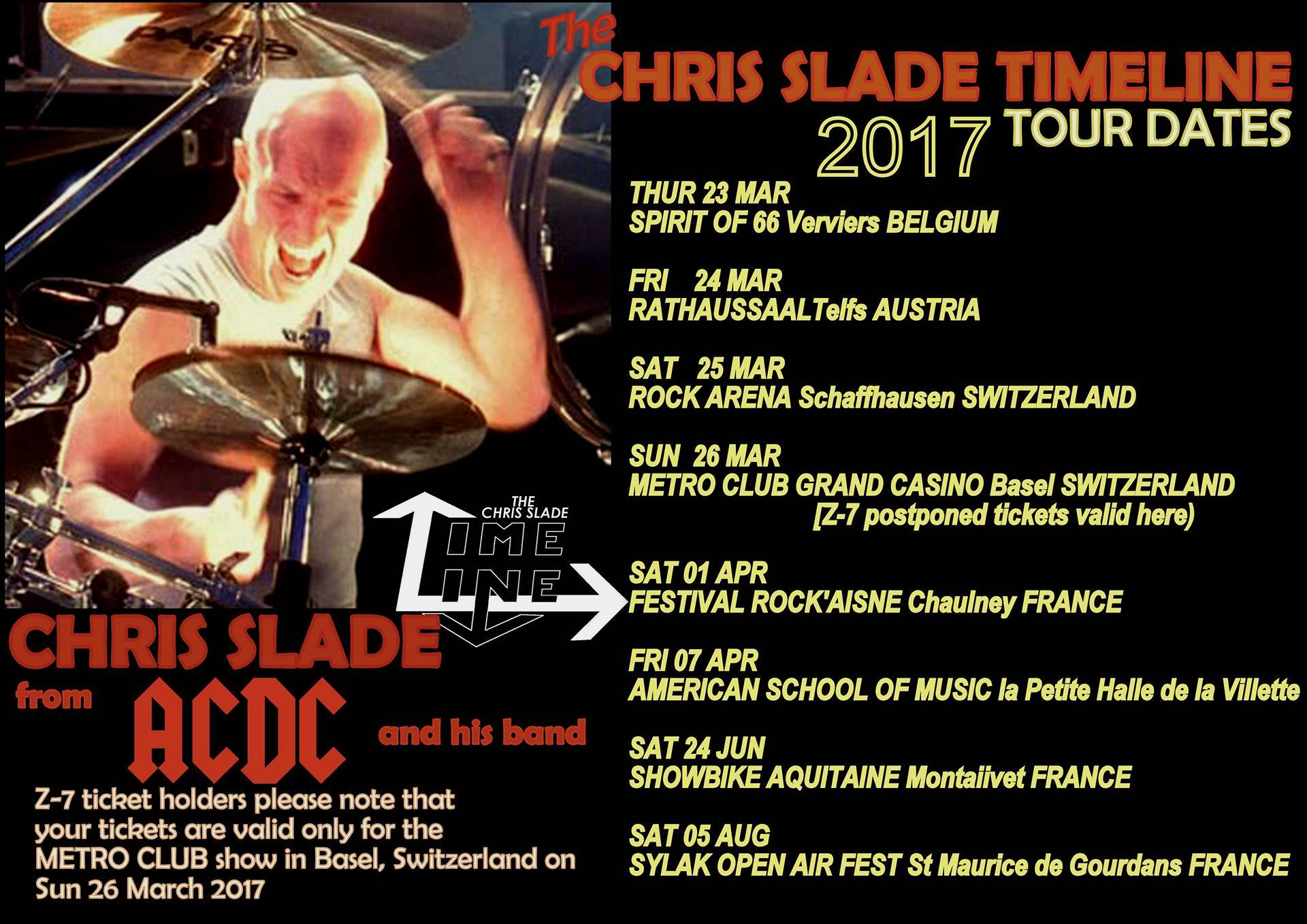 New Chris Slade Timeline Shows Announced for 2017